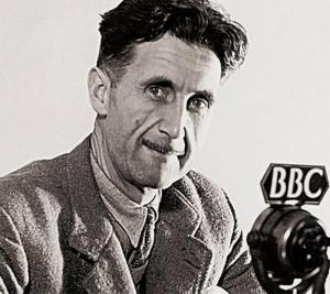 Ironic pic of Orwell at Big Brother Corp